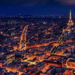 Paris, France at night