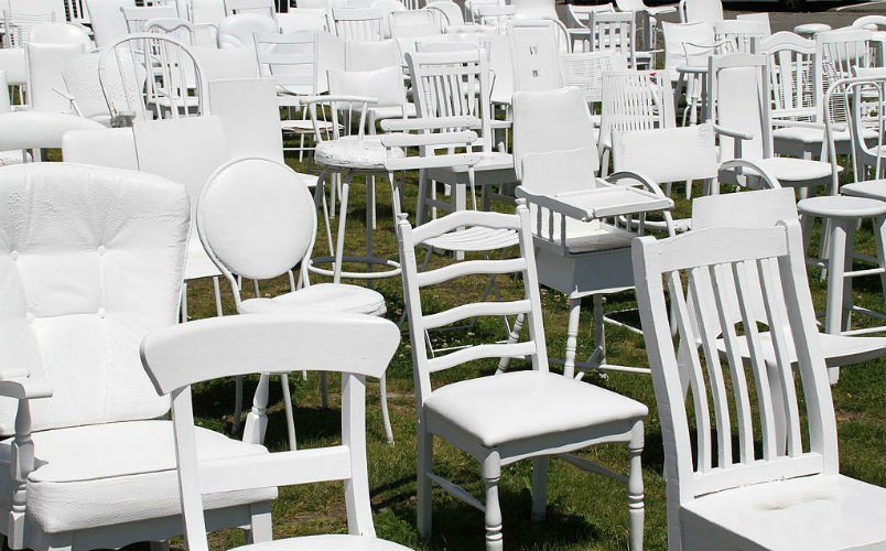 185 Empty Chairs - Earthquake Memorial, Christchurch, New Zealand