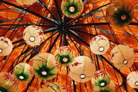 Paper lanterns Hanoi Vietnam