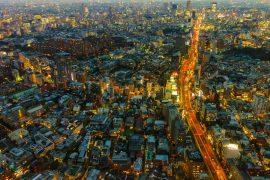 Tokyo, Japan night city