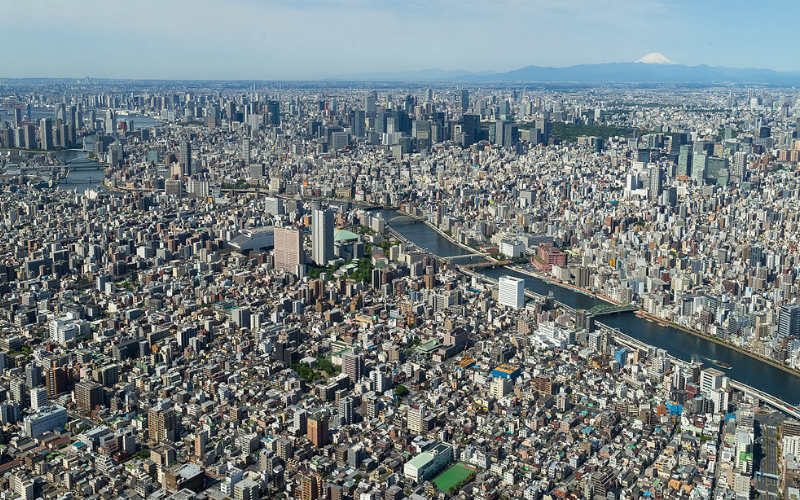 The view from Tokyo SkyTree, Tokyo, Japan