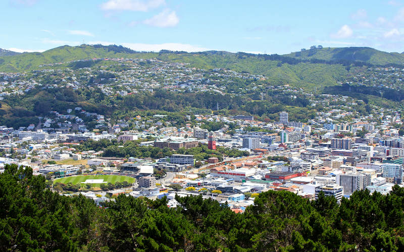 The view from Mount Victoria Lookout, Wellington, New Zealand