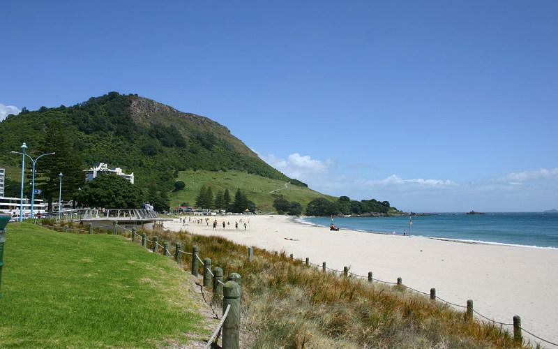 Mount Maunganui Main Beach, Tauranga, New Zealand