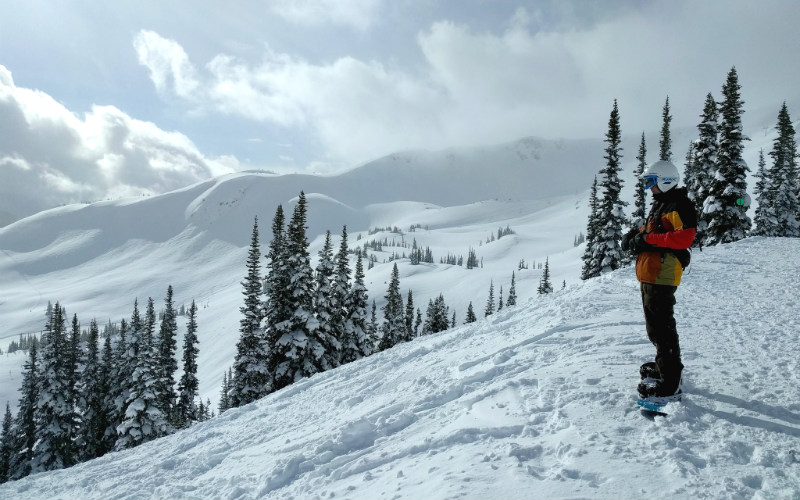 Skiing at Whistler, Canada