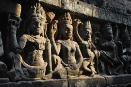 Angkor Wat temple carving, Cambodia