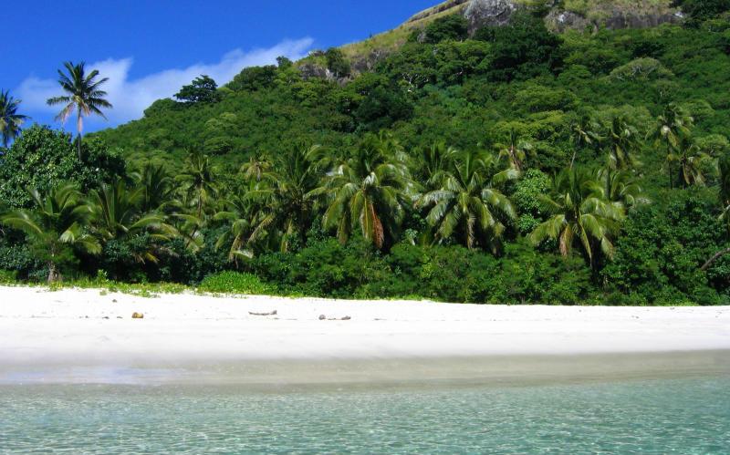 Fiji beach white sand