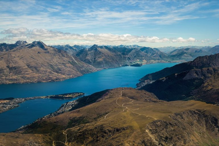 View Over Lake in Queenstown, New Zealand