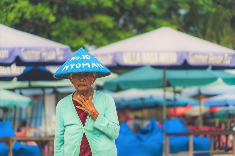 A woman in Seminyak, Bali