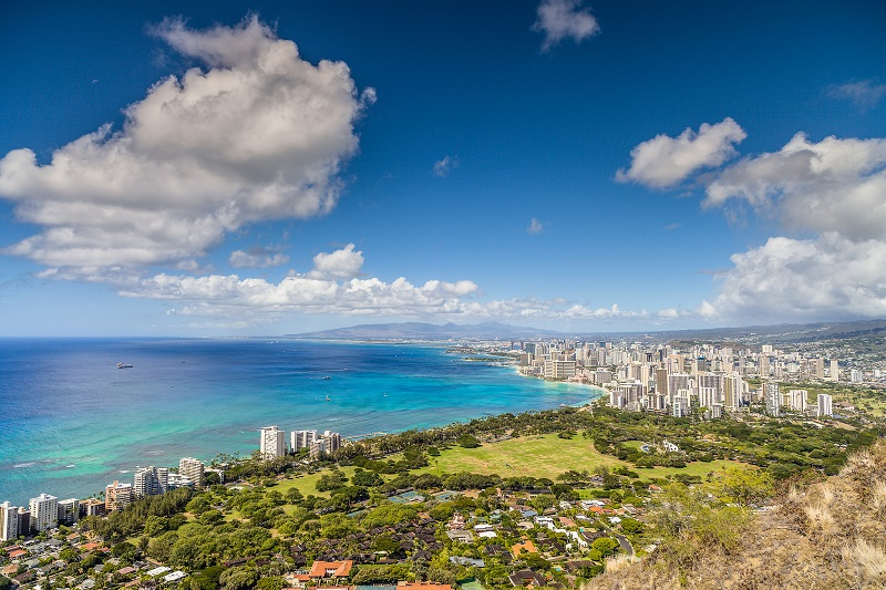 View of Honolulu, Hawaii, from Diamond Head