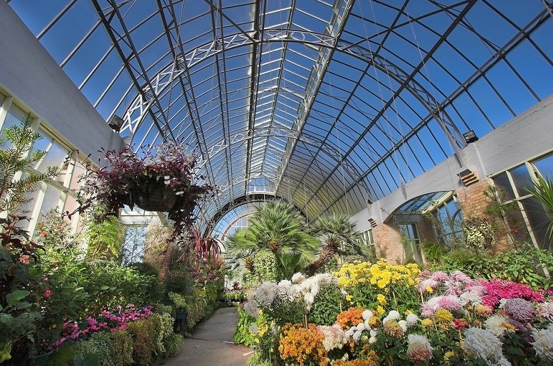 Glasshouse at Domain Wintergardens in Auckland